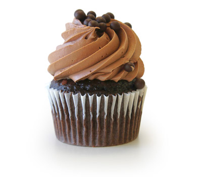 Triple Chocolate Crunch Cupcake